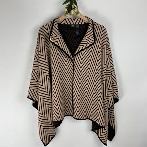 Travelers Collection by Chico's Striped Poncho